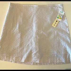 NWT - Vintage Neutral Toned Striped Skirt
